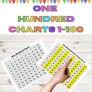 One Hundred Charts for Math Counting Practice by My Kinder Garden