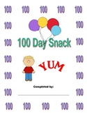 One Hundred Day Snack Activities