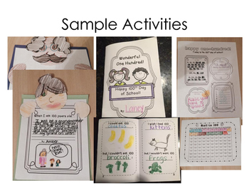 100th Day! One Hundred Days- Minibook and Activities for the 100th Day