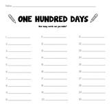 One Hundred Days [Word Maker Worksheet]
