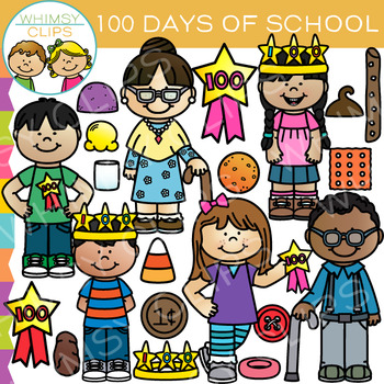 100 Days of School Clip Art
