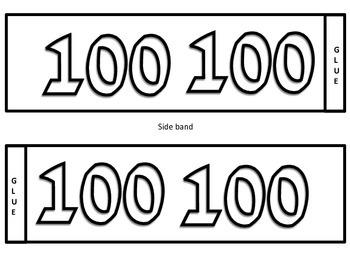 One Hundred Days of School Headband