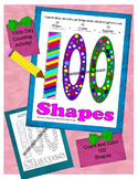 One Hundred Days of School One Hundred Shapes to Color and