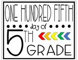 One Hundred Fifth Day of Fifth Grade Sign