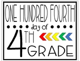 One Hundred Fourth Day of Fourth Grade Sign
