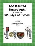 One Hundred Hungry Ants and Activities for 100 Hundred Days of School