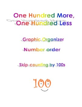 One Hundred More One Hundred Less Number Order Graphic Organizer