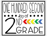 One Hundred Second Day of Second Grade Sign