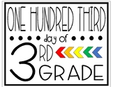 One Hundred Third Day of Third Grade Sign