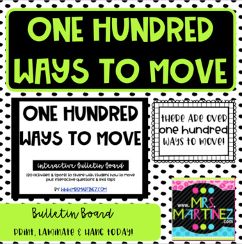 One Hundred Ways to Move!