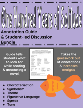 One Hundred Years of Solitude Annotation Guide and Student-led Discussion Bundle