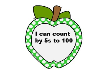 100 th day - Counting by 5s up to 120