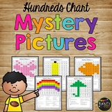 One Hundreds Chart Mystery Pictures Packet, Math Hidden Pictures