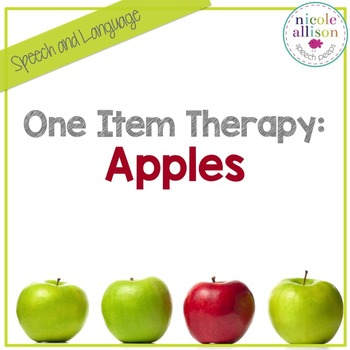 One Item Therapy {Apples}