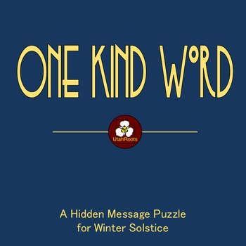 One Kind Word:  A Free Hidden Message Puzzle for Winter Solstice