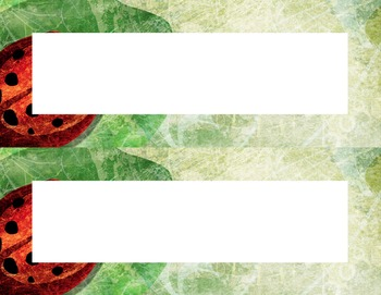 One Ladybug on a Leaf Desk Name Tag Plates Set