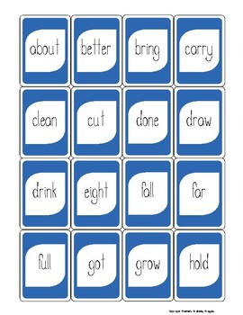 One Left! Dolch Words Game-3rd Grade Edition
