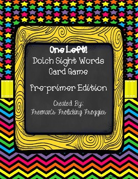 One Left! Dolch Words Game-Preprimer Edition