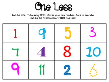One Less Math Game
