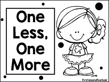 One Less, One More Worksheets (Freebie)