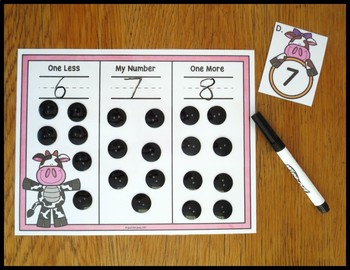 One Less One More Cow Themed Activity by Just Ask Judy | TpT