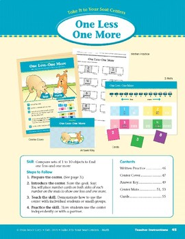 One Less One More (Take It to Your Seat Centers Common Core Math)