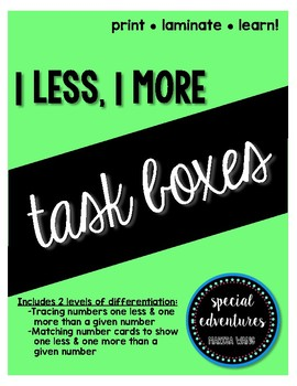One Less, One More Task Boxes