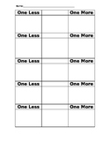 One Less, One More Worksheet - Number Sense