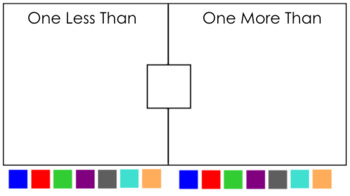Interactive Moving Pieces- One Less Than One More/Greater Than
