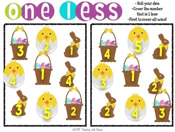 One Less: Themed and Differentiated Math Game
