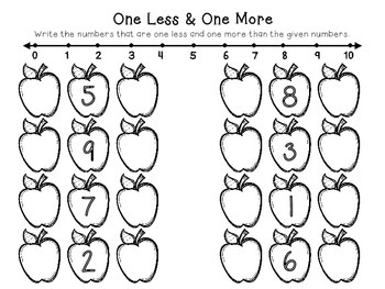 One Less and One More Apples