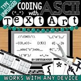 One Line & Unplugged Coding with ASCII Text Art Task Cards for Any Device