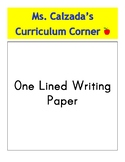 One Line Writing Paper
