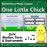 Spring Music Lesson ~ One Little Chick Orff, Rhythm & Instruments {Eighth Notes}