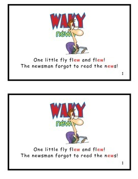 One Little Fly Flew and Flew! Guided Reader (-ew Word Family)