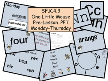 One Little Mouse SF.K.4.3 Pre-Lesson PPT