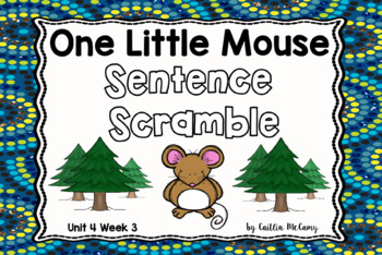 One Little Mouse Sentence Scramble