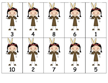 One Little, Two Little, Three Little Indians...or Pilgrims: Counting 1 to 10