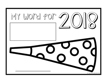 One Little Word New Years Posters