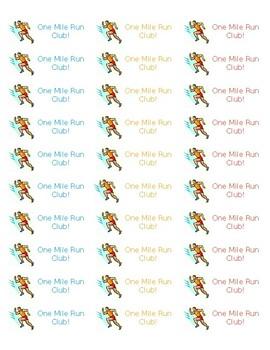 One Mile Run Sticker