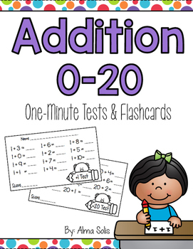 Addition 0-20 One Minute Tests and Flashcards