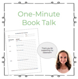 One Minute Book Talk