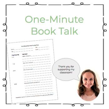 One Minute Book Talk