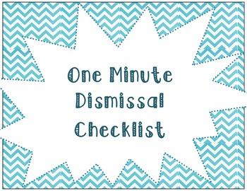 One Minute Dismissal {chevron pattern}