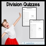 One Minute Division Quizzes 1-12