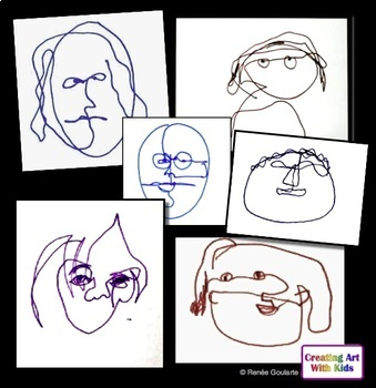 Art Lesson One-Minute Faces Inspired by Alexander Calder