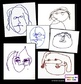 Art Lesson - One-Minute Faces - Inspired by Alexander Calder