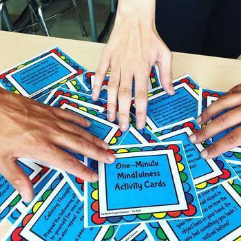 Mindful Activities - One-Minute Mindfulness Activity/Task Cards