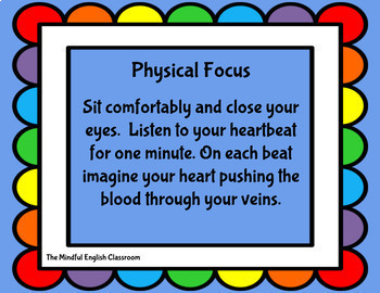 Mindfulness Activities - One-Minute Mindfulness Cards