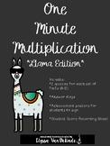 One Minute Multiplication (1-12), Llama Edition